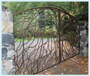 Branching gate from left