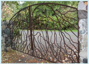 Branching gate from right